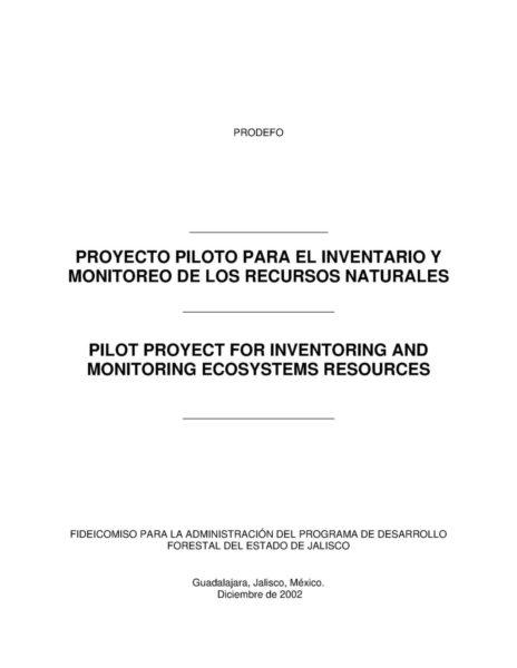 Inventario y monitoreo de los recursos naturales
